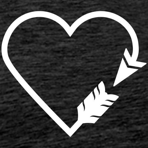 Arrow Heart (Archery by BOWTIQUE) - Men's Premium T-Shirt
