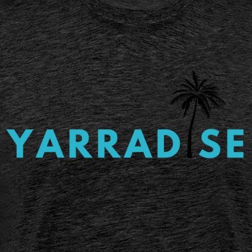Yarradise Palm: Blue text - Men's Premium T-Shirt