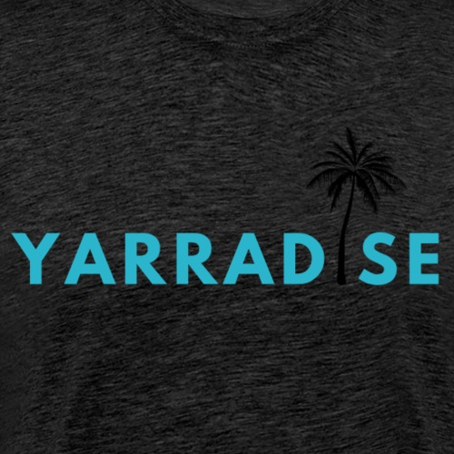 Yarradise Palm: Blue text