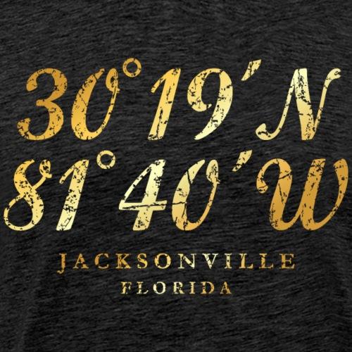 Jacksonville, Florida Coordinates - Men's Premium T-Shirt