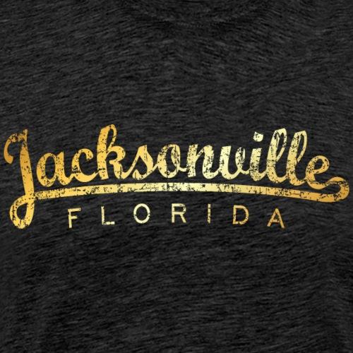 Jacksonville, Florida Classic (Golden-Yellow) - Men's Premium T-Shirt