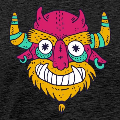 monster face devil - Men's Premium T-Shirt