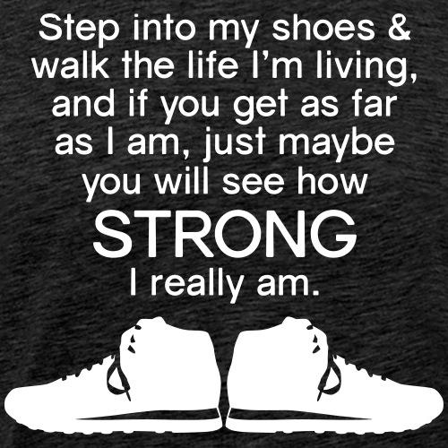 Step into My Shoes (tennis shoes) - Men's Premium T-Shirt