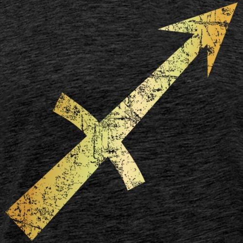 Zodiac Sign Sagittarius (Vintage Golden-Yellow) - Men's Premium T-Shirt