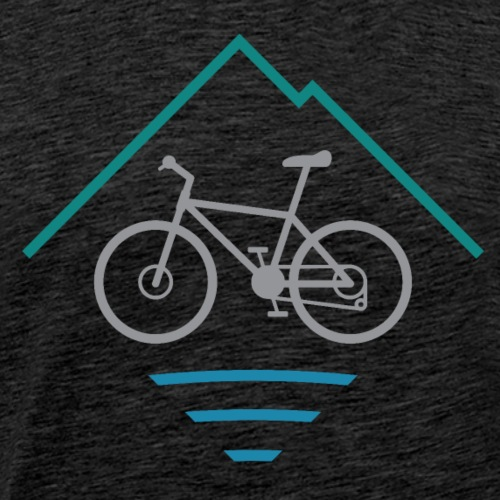 Outdoor Mountain Bike Logo - Men's Premium T-Shirt