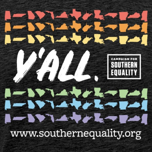 Y'All Means All Hoz CSE Logo (Dark Background) - Men's Premium T-Shirt