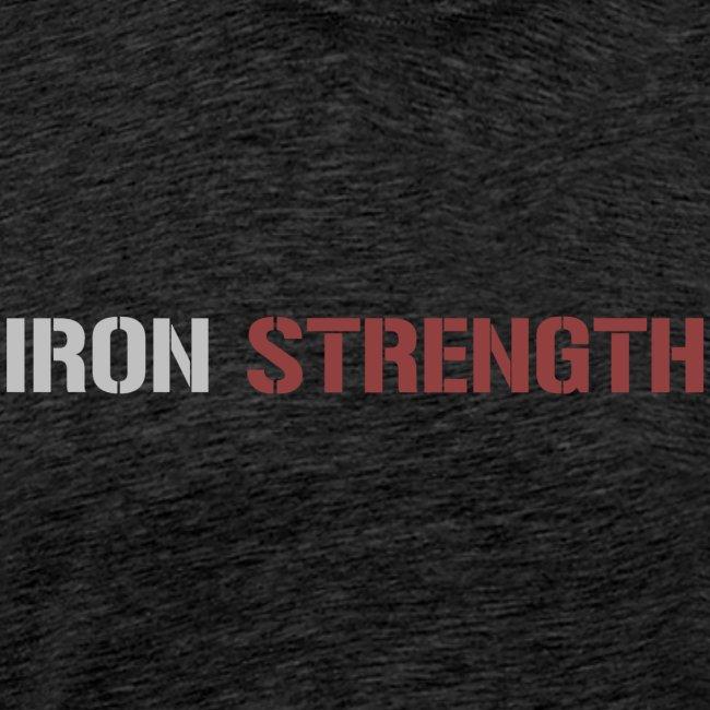 Grey Red IRON STRENGTH
