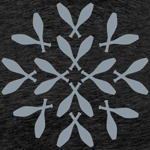 Juggling Pattern Circle - Men's Premium T-Shirt