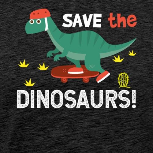 Save The Skateboarding Dinos - Men's Premium T-Shirt