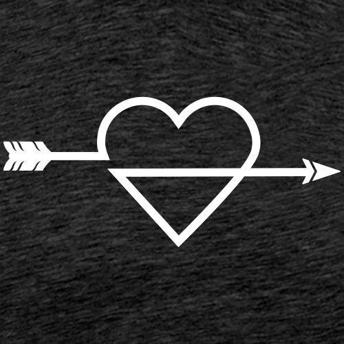 Arrow Heart Icon (Archery by BOWTIQUE) - Men's Premium T-Shirt