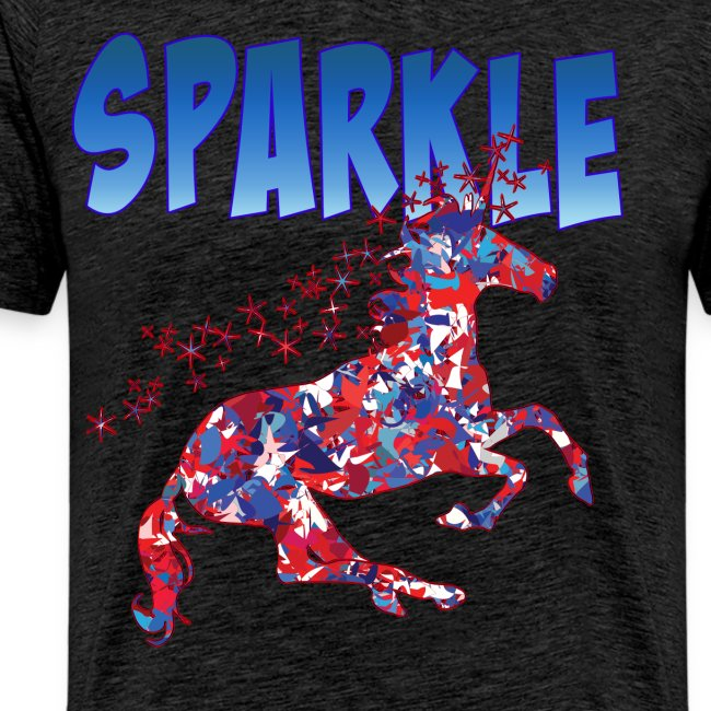 Sparkle Red, White and Blue Unicorn
