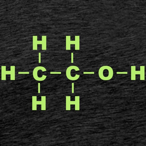 Alcohol Molecule - Men's Premium T-Shirt