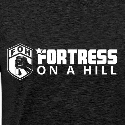 Fortress On A Hill white logo - Men's Premium T-Shirt