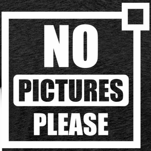funny quote no pictures - Men's Premium T-Shirt