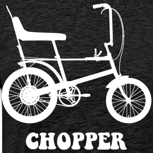Raleigh Chopper Mk1 Bicycle (White) - Men's Premium T-Shirt