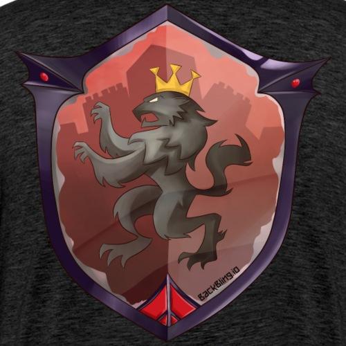 Red Shield Back Bling - Men's Premium T-Shirt
