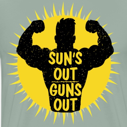 SunsOutGunsOut - Men's Premium T-Shirt