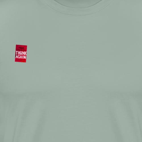 Make America Think Again (Small Logo) - Men's Premium T-Shirt