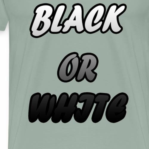black or white design - Men's Premium T-Shirt