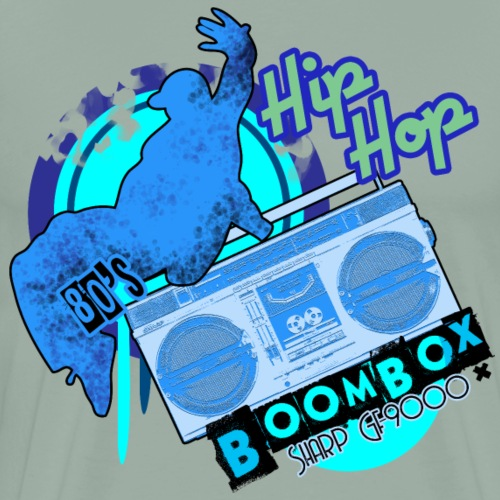 Boombox Sharp GF-9000 Ghettoblaster - Men's Premium T-Shirt