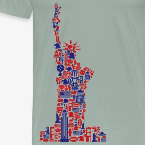 Statue Of Liberty Icons - Men's Premium T-Shirt