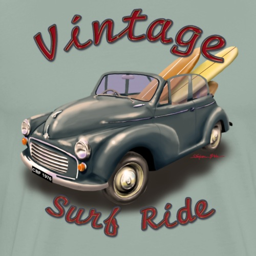 Vintage Surf Ride Morris - Men's Premium T-Shirt