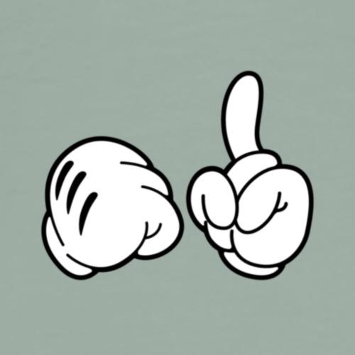 fadcdbdd093340917d5191a06d382878 mickey mouse hand - Men's Premium T-Shirt