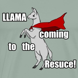Llama Coming to the Rescue - Men's Premium T-Shirt