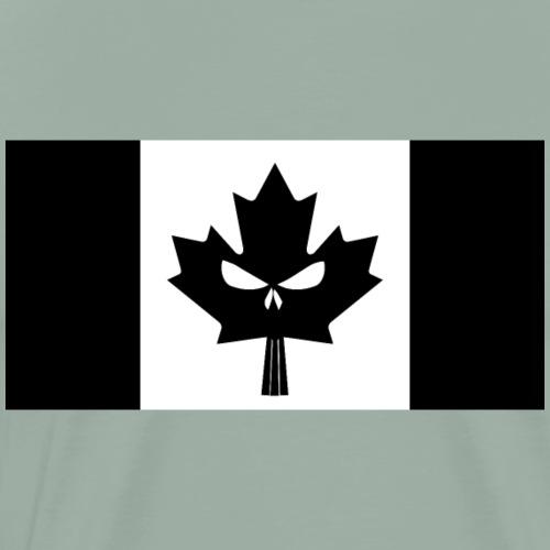 Black Canadian Skull Flag - Men's Premium T-Shirt