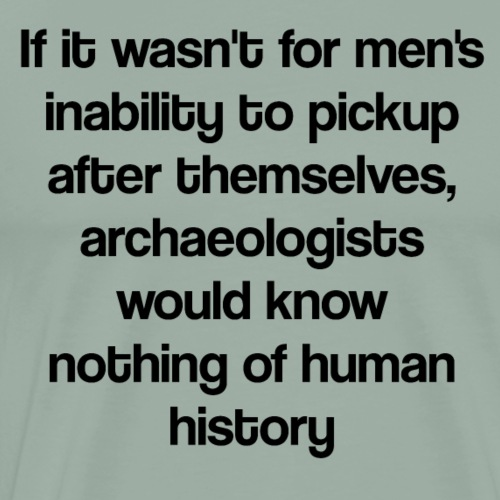 If it wasn't for men's inability to pick up after - Men's Premium T-Shirt