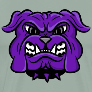 custom purple bulldog mascot - Men's Premium T-Shirt