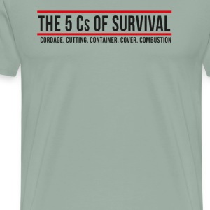5Cs of Survival Banner - Men's Premium T-Shirt