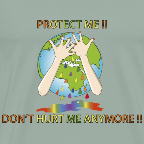 Earth day Protect me !! - Men's Premium T-Shirt