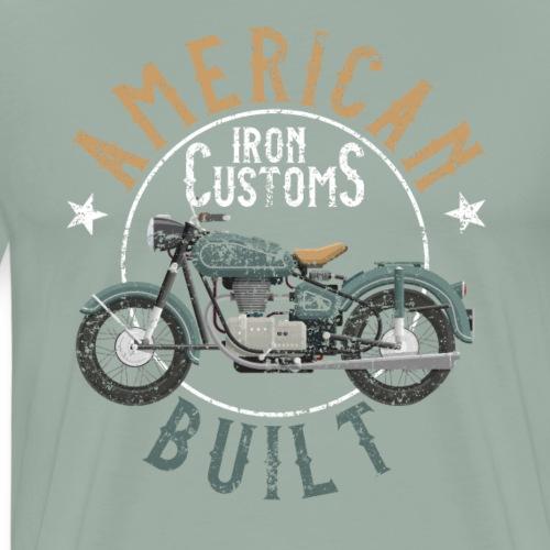 Biker Life USA American Motorcycle - Men's Premium T-Shirt