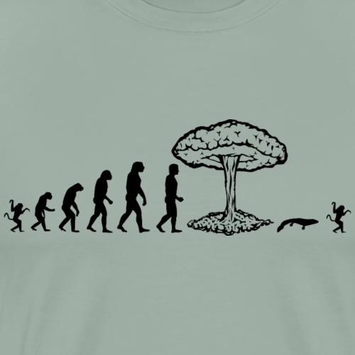 Evolution of man parody : nuke explosion - Men's Premium T-Shirt