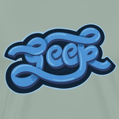 GEEK (Blue) - Men's Premium T-Shirt