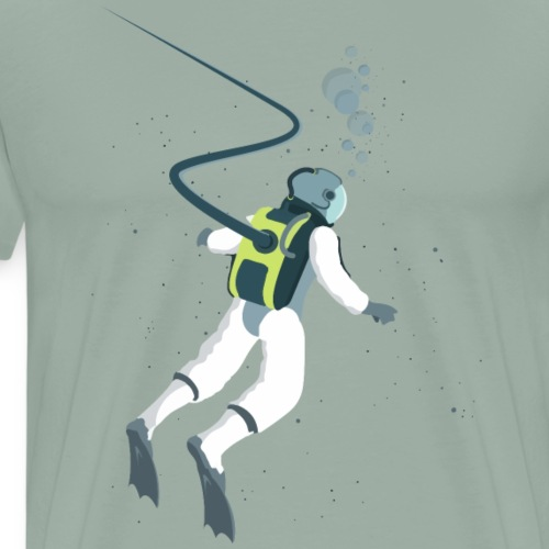 Deep Space Diver - Men's Premium T-Shirt