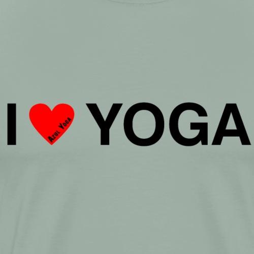 I LOVE YOGA BLK - Men's Premium T-Shirt