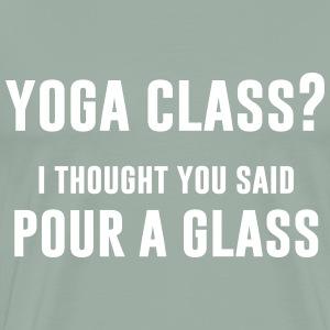 Yoga Class - Men's Premium T-Shirt