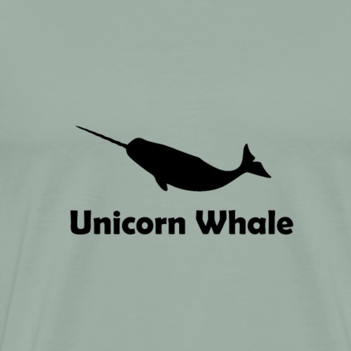 Unicorn Whale Narwhale 2 black gift - Men's Premium T-Shirt