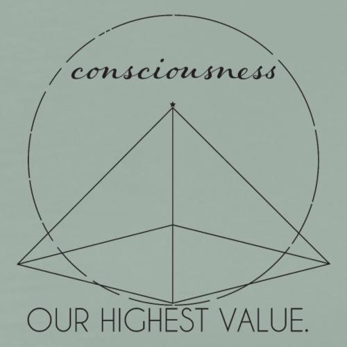 Consciousness Our Highest Value - Men's Premium T-Shirt