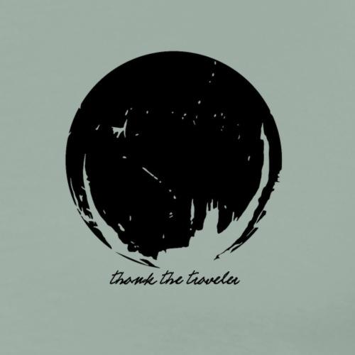 traveler in black - Men's Premium T-Shirt