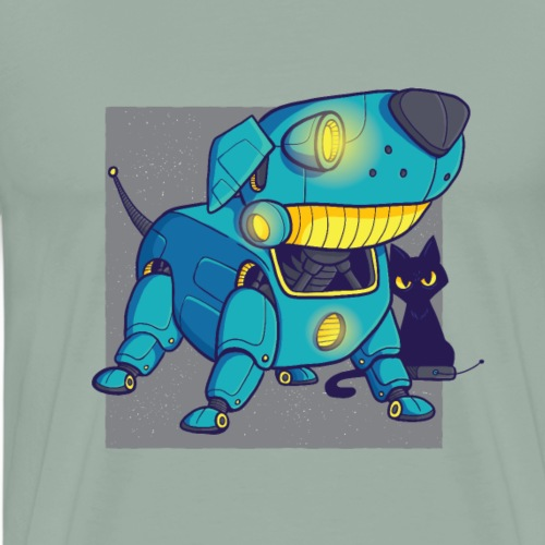 Dog robot tshirt - Men's Premium T-Shirt