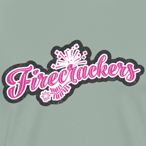Vintage Firecrackers Softball - Men's Premium T-Shirt