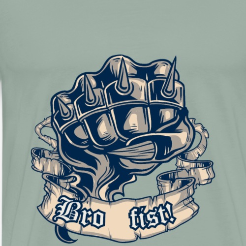 vintage vector bro fist - Men's Premium T-Shirt