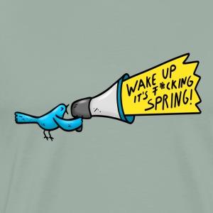 Bird Spring Megaphon Fun Shirt - Men's Premium T-Shirt