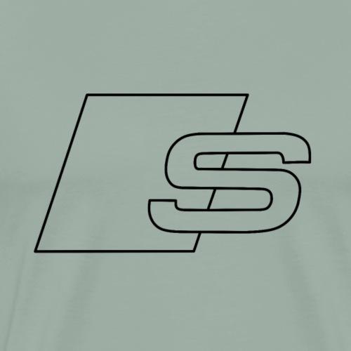 S logo black - Men's Premium T-Shirt