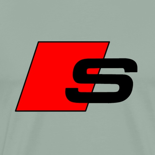 S logo red black - Men's Premium T-Shirt