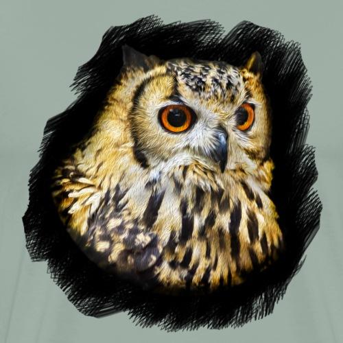 Owl Portrait - Men's Premium T-Shirt