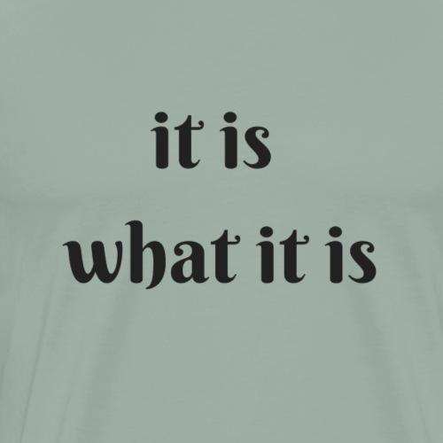 it is what it is - Men's Premium T-Shirt